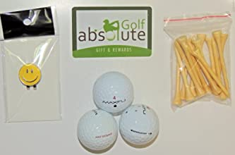 48 Maxfli Recycled Golf Balls Grade AB With Free Tee39s and Magnetic Smiley Face Golf Ball MarkerHat