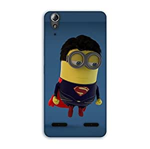 Happoz Lenovo A6000 & A6000 Plus Cases Back Cover Mobile Pouches Shell Hard Plastic Graphic Armour Premium Printed Designer Cartoon Girl 3D Funky Fancy Slim Graffiti Imported Cute Colurful Stylish Boys D094