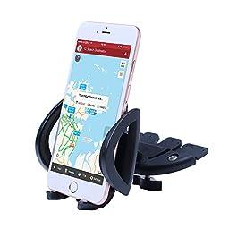 Patea 360° Universal CD-Slot Smartphone Mount (Black)