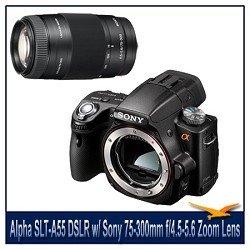 Sony Alpha DSLR-SLT-A55 Digital Camera, 16.2MP, Built-In GPS, 3