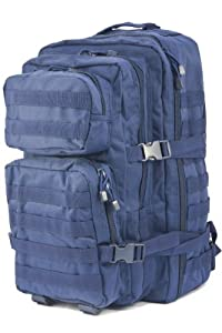 Mil-Tec Military Army Patrol MOLLE Assault Pack Tactical Combat Rucksack Backpack Bag 36L Navy Blue