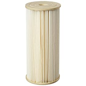"Pentek ECP1-BB Pleated Cellulose Polyester Filter Cartridge, 9-3/4"" x 4-1/2"", 1 Micron"