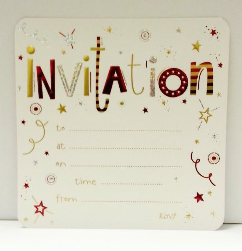 Pack of 10 Invitation Card Sheets Birthday Party