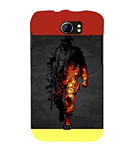 printtech Battlefield Game View Back Case Cover for Micromax Canvas 2 A110::Micromax Canvas 2 Plus A110Q