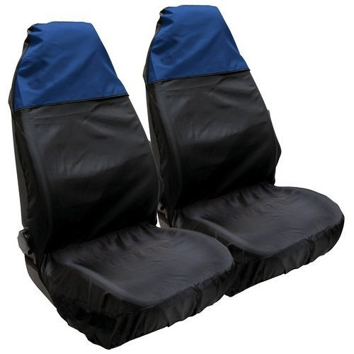 mitsubishi-lancer-l200-two-waterproof-heavy-duty-front-car-van-suv-seat-covers-protectors-blue-top-b