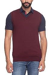 Raymond Men's Woolen Sweater (8907253093075_RMWY00489-M8_42_Maroon)
