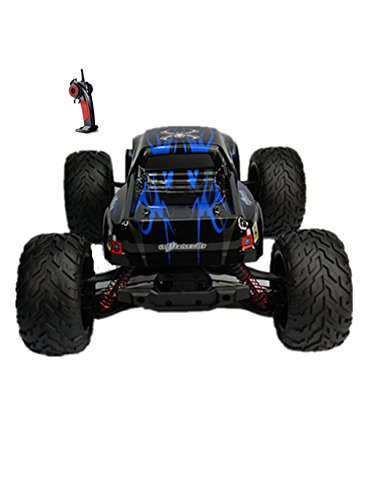 Taipove Full Proportional 2WD Brush High Speed Monster Truck with 2.4GHz Radio Remote Control Charger Included 1/12 Scale with Waterproof Electronics GPTOYS Foxx S911 (Blue) (Rc Monster Truck With Camera compare prices)