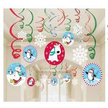Joyful Snowman Hanging Swirls Value Pack