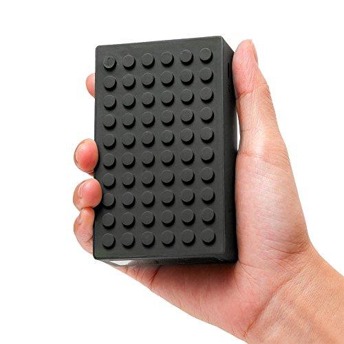 [UL認証済み] モバイルバッテリー Letouch 8400mAh 2ポート付レゴのようなデザインでユニークなスマホUSB急速充電器(チャージャー) iPhone6s/6sPLUS/6/6PLUS/5/5c/5s/iPad Air/iPad mini/iPod/Android /HTC/Motorola/ Nokia/Xperia/SamsungGalaxy各種スマホなど対応超コンパクト端子(ブラック)