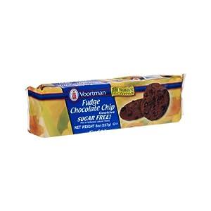 Amazon.com: Voortman Sugar Free Fudge Chocolate Chip Cookies
