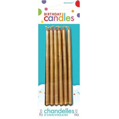 Gold Mini Taper Birthday Candles - 1