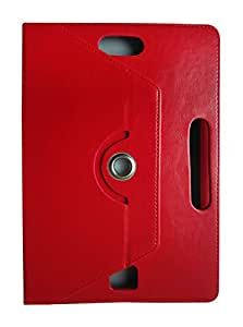Fastway 360 Degree Rotating Tablet Book Cover For Zinglife Z97T-Red