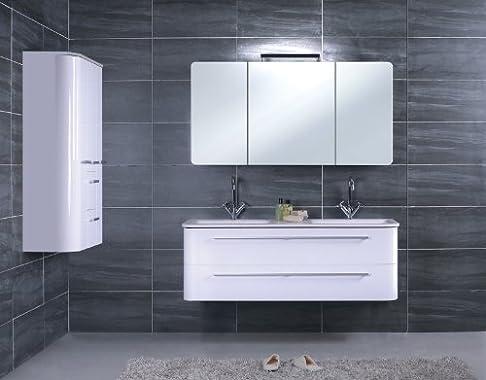 Lager raeumung per mobili da bagno impianto BF 912colore nero lucido, con lato congelatore