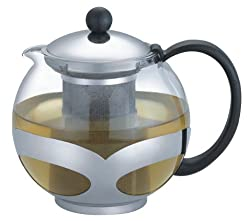 Uniware A10035 1200ml Stainless Steel Glass Teapot with Infuser