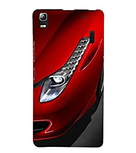 ifasho Designer Phone Back Case Cover Lenovo A7000 :: Lenovo A7000 Plus :: Lenovo K3 Note ( Wood Look Blue Ink Oil Paint Wood Look )