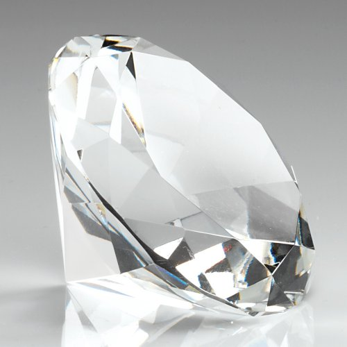 60mm-plain-clear-glass-diamond-shapped-paperweight-complete-with-gift-box-dia60
