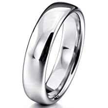 buy Women,Men'S Wide 6Mm Tungsten Ring Band Silver Comfort Fit Classic Wedding Size6