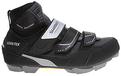 Shimano 2015 Men's Premium Off-Road Cold/Wet Weather Mountain Bike Shoes - SH-MW81 (Black - 40)