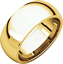 8mm Comfort Fit Band in 14k Yellow Gold - Size 4