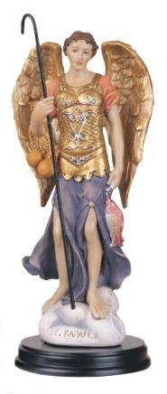 5 Inch Archangel Raphael Holy Figurine Religious Decoration Statue