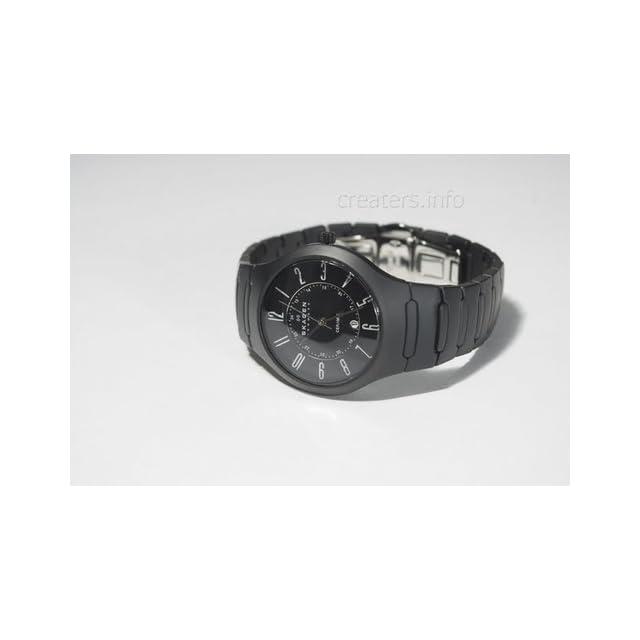 Skagen Mens 817LBXC Ceramic Black Watch