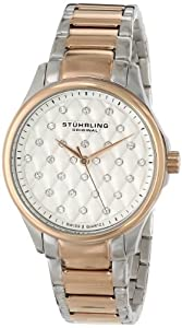 Stuhrling Original Women's 567.03 Vogue Culcita Analog Display Swiss Quartz Two Tone Watch