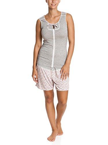 Vive Maria Dreamy Flowers Short Pyjama grey-melange/allover-Pigiama Donna    Grau (grau allover) 42