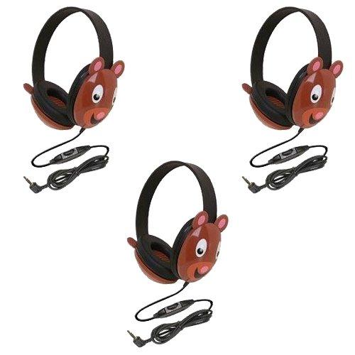 Califone 2810-Pa Listening First Stereo Headphone, Bear Motif - Pack Of 3