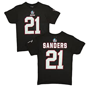Atlanta Falcons Deion Sanders Black Eligible Receiver Name and Number T-Shirt by VF