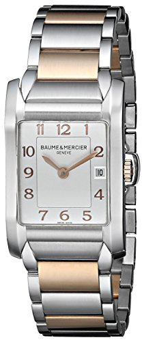 Baume and Mercier Hampton Silver Dial Steel and 18kt Rose Gold Ladies Watch