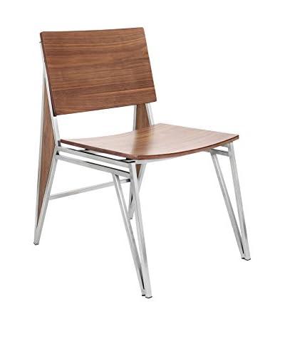 Lumisource Tetra Dining Chair, Walnut