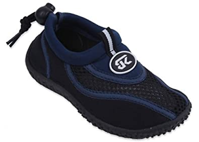 New Sunville Brand Toddler's Navy & Black Athletic Water Shoes Aqua Socks Size 5