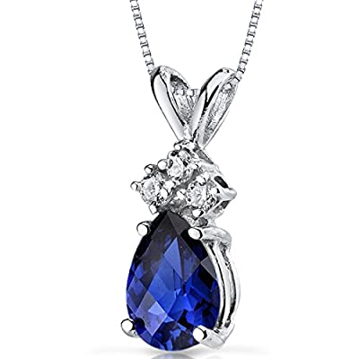 Revoni 14ct White Gold Pear Shape Diamond Pendant Necklace