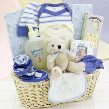 New Arrival Baby Gift Basket - Boy