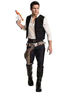 Rubie's Men's Classic Star Wars Grand Heritage Han Solo Costume, Multi, Men's Standard
