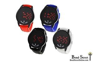 Wholesale Assortment of 10 Geneva Athlete LED Touch Leather Watches