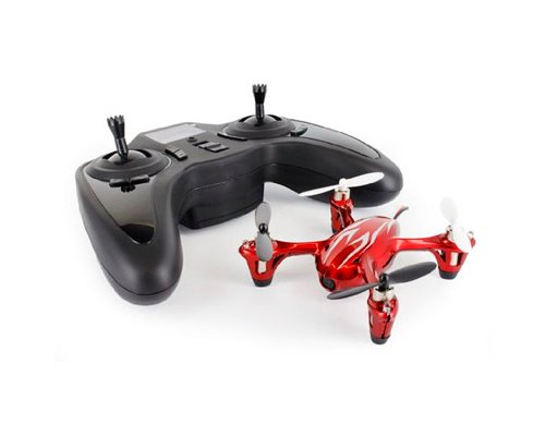 Hubsan X4 H107C 2.4Ghz 4Ch Fpv 6 Axis Gyro Mode 2 Flight Control 4 Ways Flip Rc Quadcopter Ready To Fly Toys Rtf Drone With 0.3Mp Camera, Prop Protector - White-Red Best Gift For Christmas Birthday Thanksgiving
