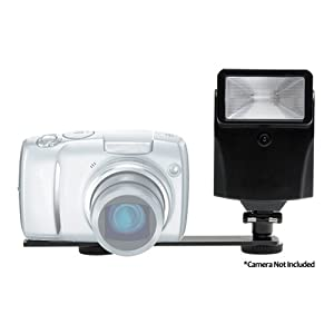 Pro Digital Auto Slave Flash with Bracket Set for Panasonic Lumix DMC-LS85, FX37, FX48, FX150, FX580, LX3, FZ28, TZ50, FS7, FS15, FS25, TS1, ZS1, ZS3 Camera