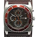 Kahuna Gents Brown Chronograph Genuine Leather Watch