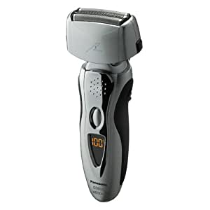 Panasonic ES8109S Men's 3-Blade (Arc 3) Wet/Dry Nanotech Rechargeable Electric Shaver with Vortex Cleaning System, Silver