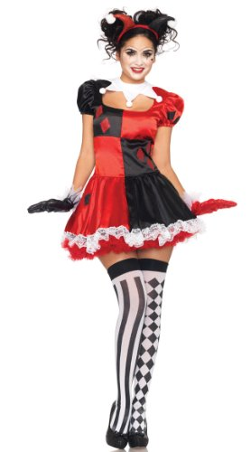 GALHAM - New Design Harlequin Heartbreaker Clown Women Halloween Dress Costume