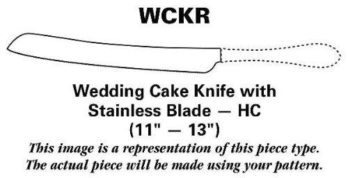 International Silver Prelude (Sterling, 1939, No Monograms) Wedding Cake Knife With Stainless Blade Hc