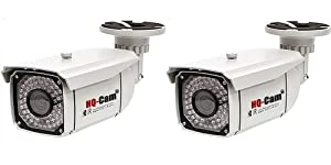 HQ-Cam® 2 Packs CCTV Home Video Outdoor CCD Bullet Security Camera - 550 color TV Lines Sony Super HAD II CCD 1/3