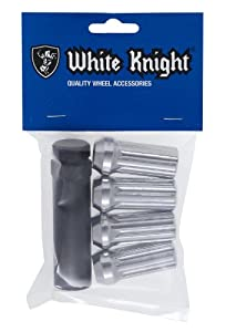 White Knight Wheel Accessories White Knight 3809L-4 Chrome Finish 14mm x 1.50 Thread Size Long Spline Drive Lug Nut with Key, (Pack of 4) at Sears.com