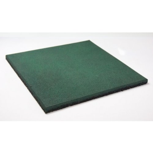 Soft & Safe Rubber Safety Mat Set - 1 sqm - 40mm thick - green
