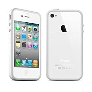 White Premium Bumper Case for Apple iPhone 4S / 4 - (AT&T, Verizon, Sprint)