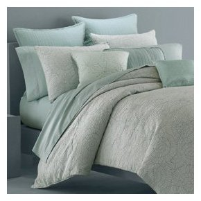 Wamsutta 1606145 Kaleidoscope 300 Thread Count Comforter Set, Queen, Aqua
