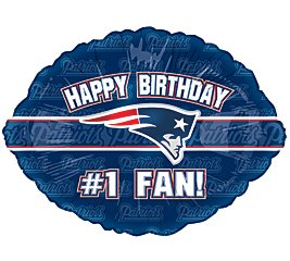 "Amazon.com: ""Happy Birthday #1 Fan"" New England Patriots NFL Football"