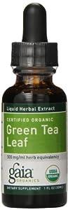 Gaia Herbs Green Tea Leaf Supplement Bottle, 1 Ounce (Pack of 2)