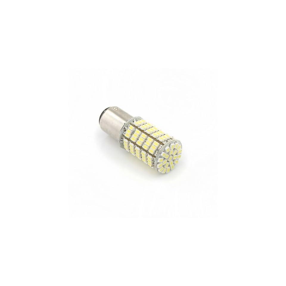 White Color Car 1157 Tail Brake 127 SMD LED Light Bulb Lamp Musical Instruments